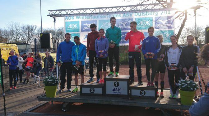 3. Platz in der Gesamtwertung der AOK-Winterlaufserie