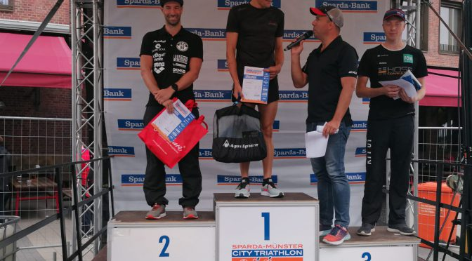 2. Platz beim Sparda-Münster-City Triathlon